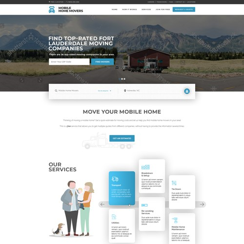 Design concept for Mobile Home Movers