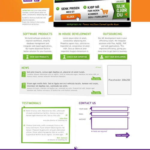 Top Notch Web 2.0 company website, awesome and playful
