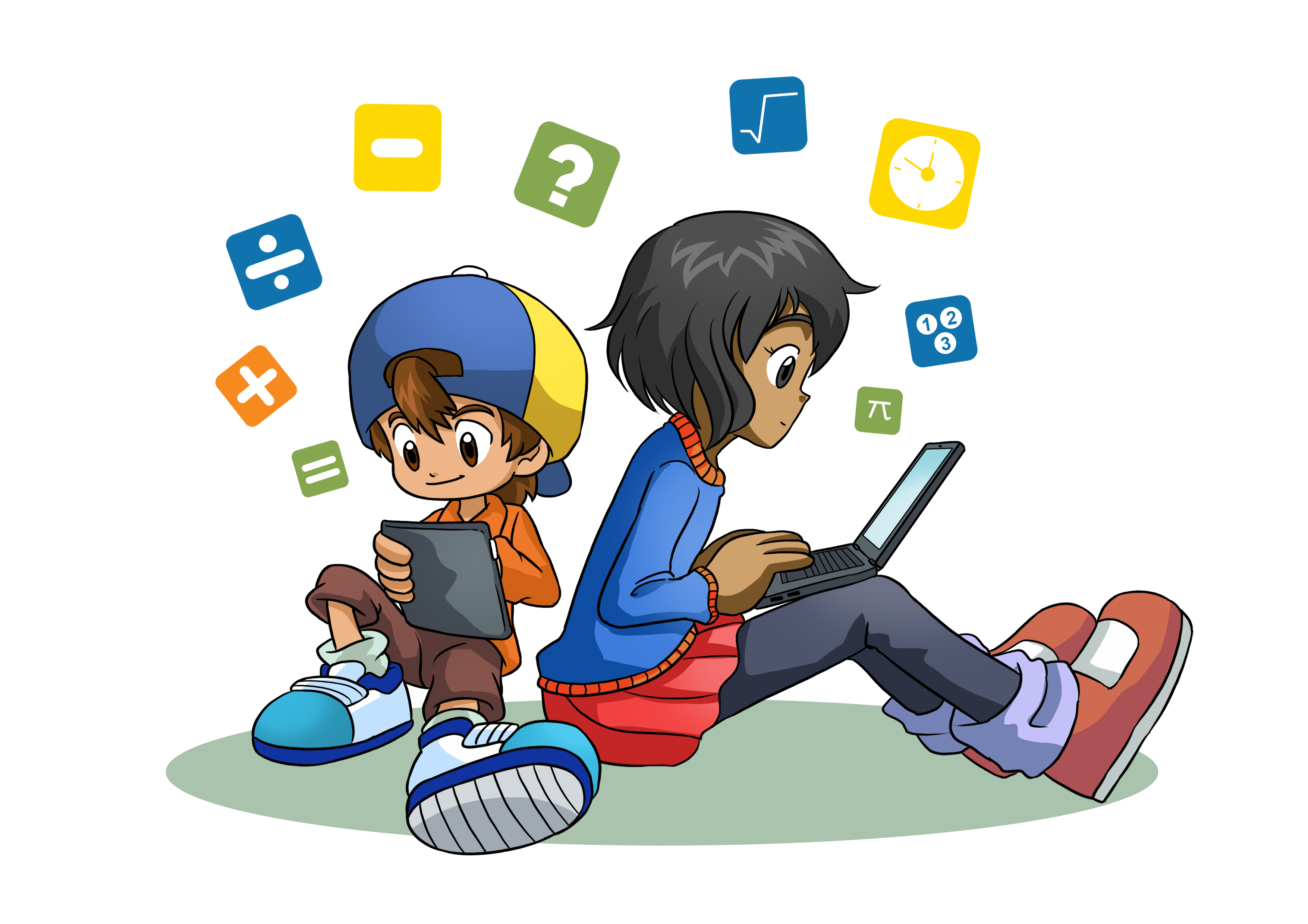 Update of feature illustration on math website for kids