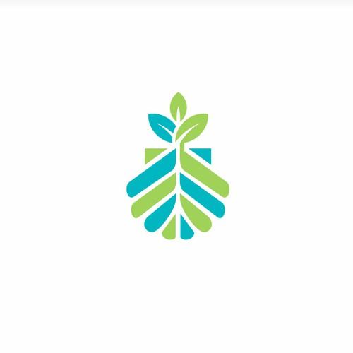 Herbal Green Vegan Medical Pharmaceutical logo