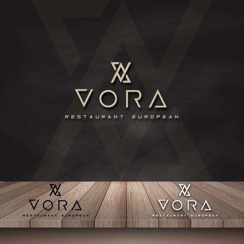 Logo concept for VORA Restaurant European