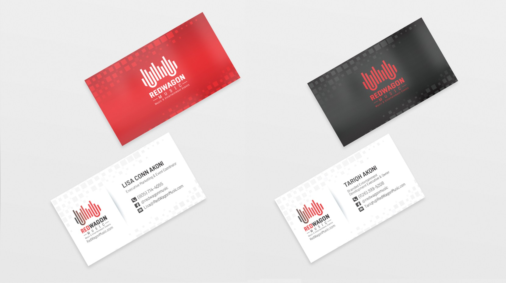 Business Card project for Red Wagon Music.