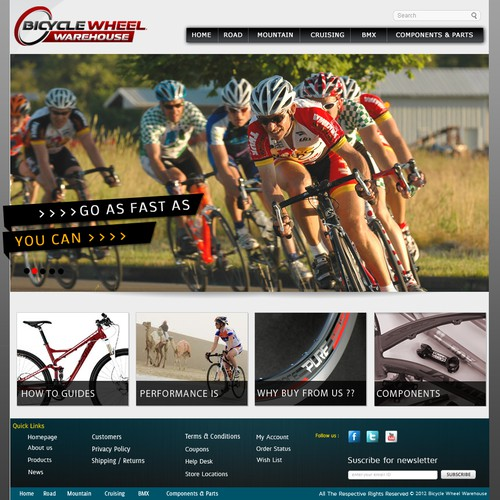 Website Design for Ecommerce Business - Bicycle Wheel Manufacturer