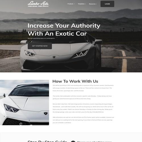 Lambo Ads Landing Page