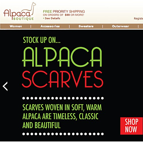 New flash banner wanted for Alpaca Boutique