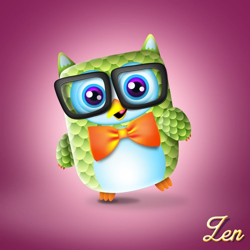 Can you create the cutest nerd owl in the world?
