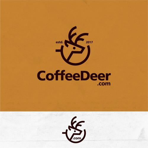 CoffeeDeer logo design