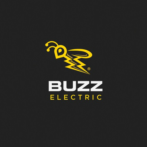 Awesome & clever logo bee/lightning bolt