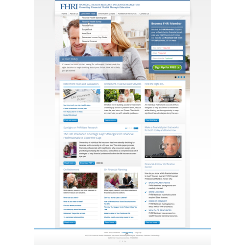 Financial Health Research Institute needs a new website design | comps due in less than 48 hours