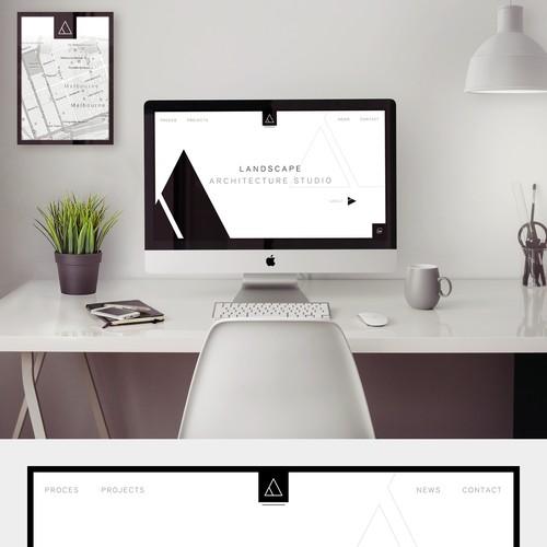 Minimalist Website for Landscape Architecture Studio