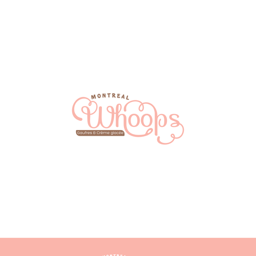 Whimsical logo for bakery and ice cream