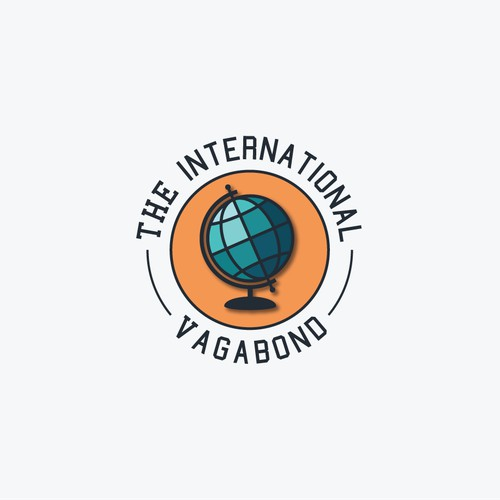 Create an exciting logo for travel blog The Intentional Vagabond