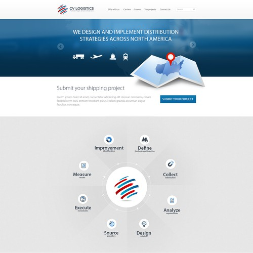 Create the next website design for CV Logistics (www.cvlog.com)
