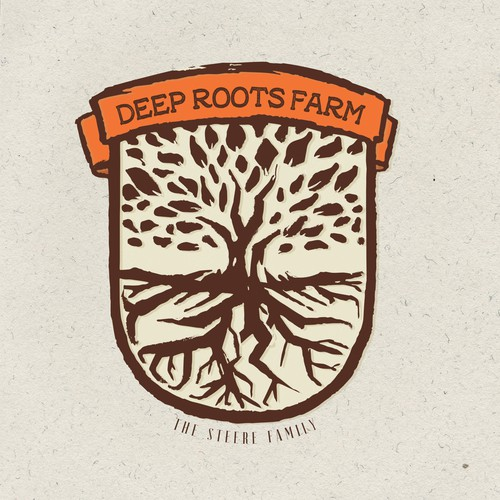 Logo design for Deep Roots Farm