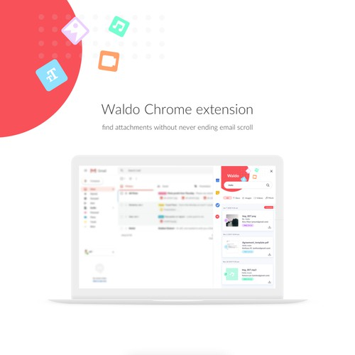 Clean ui design for a Chrome extension