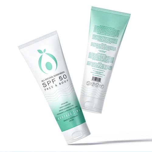 Tube & Carton Design for Premium Natural Sunscreen