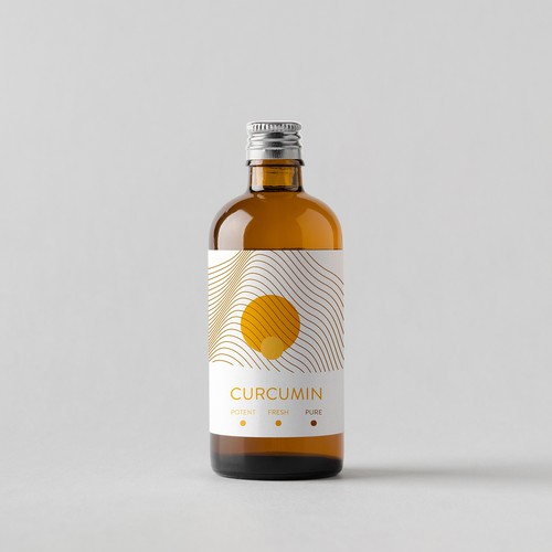 simple and modern label design