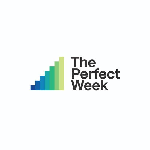 Bold and vibrant logo for The Perfect Week life coaching