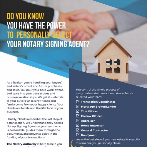 The Notari Authority Flyer
