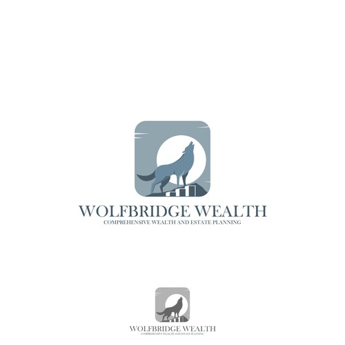 WolfBridge Wealth logo design