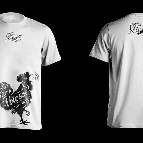 Create a Mad Rooster Shirt with Tattoo, Hand Drawn Style