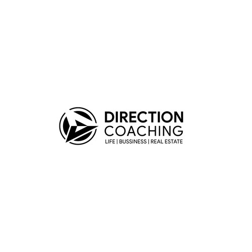A Business Coaching Logo in Black Bold Style