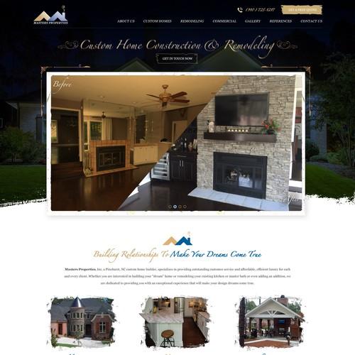Website makeover for Custom Home Builder
