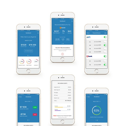FinancialMe iOS App Design