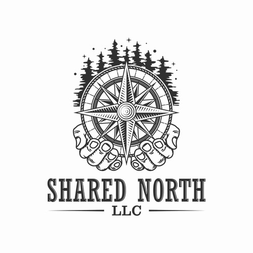 Alaskan/Compass themed logo for Shared North LLC
