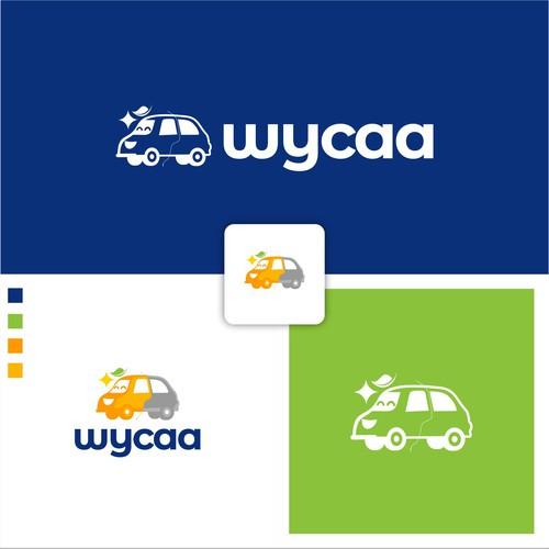 Car wash apps design logo