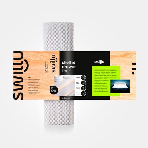 Paper Wrap Packaging for Shelf Liner