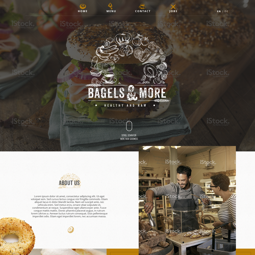 Bagel shop websites