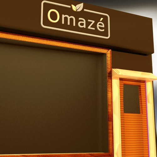 """3D store front concept for """"Omaze"""""""