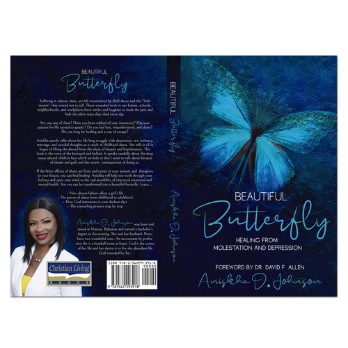"""Book cover design """"Beatiful Butterfly"""""""