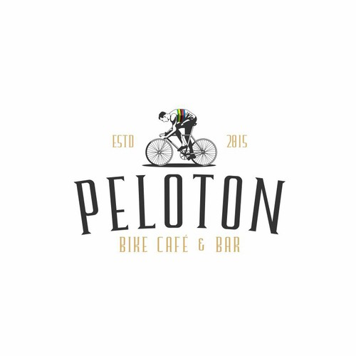 Peloton Bike Cafe Logo Design