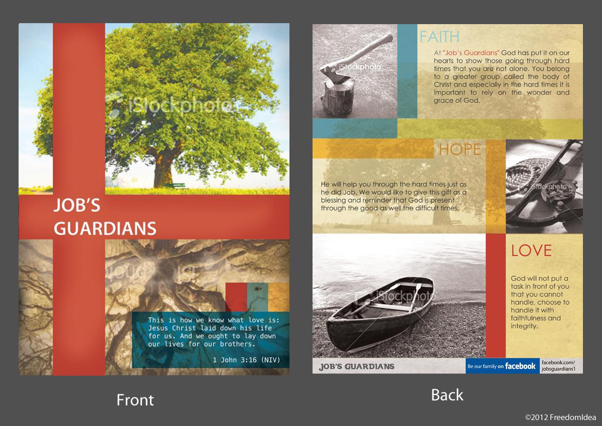 "Postcard or Flyer for ""Job's Guardians"""