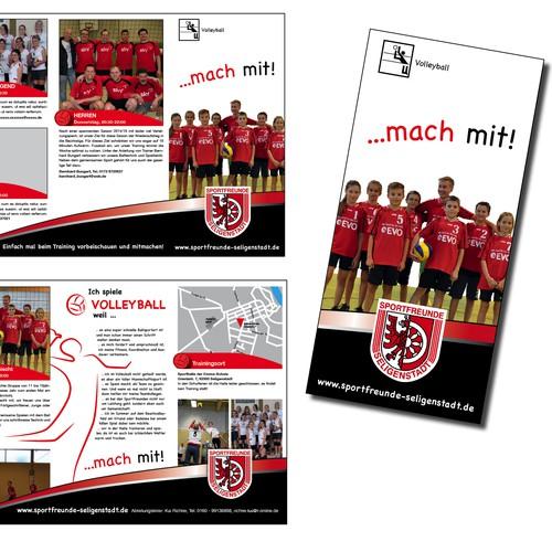 Flyer für einen Volleyball-Verein