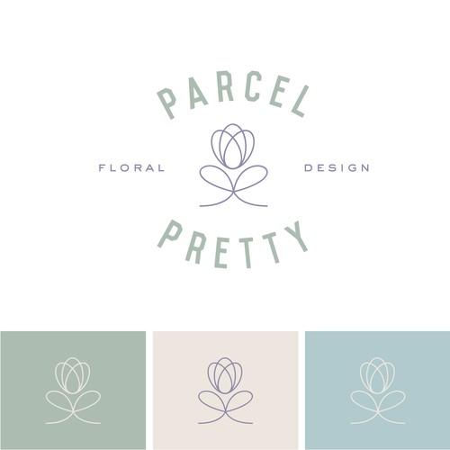 Logo concept for a floral designer/shipping company.