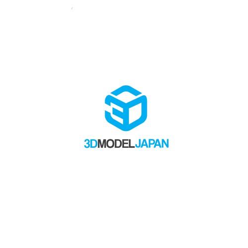 logo for 3d model japan