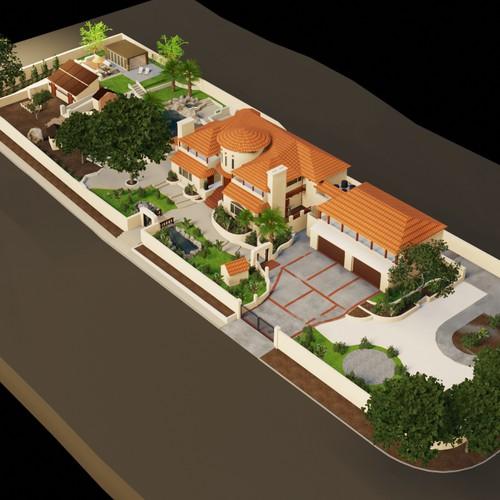 Isometric 3D House
