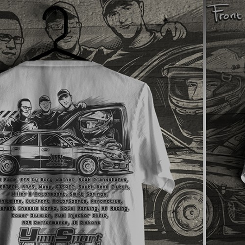Auto Racing T-Shirt Design
