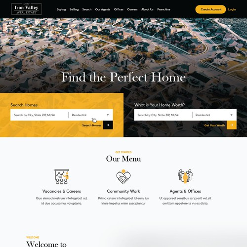 Minimalist Real Estate Website Design