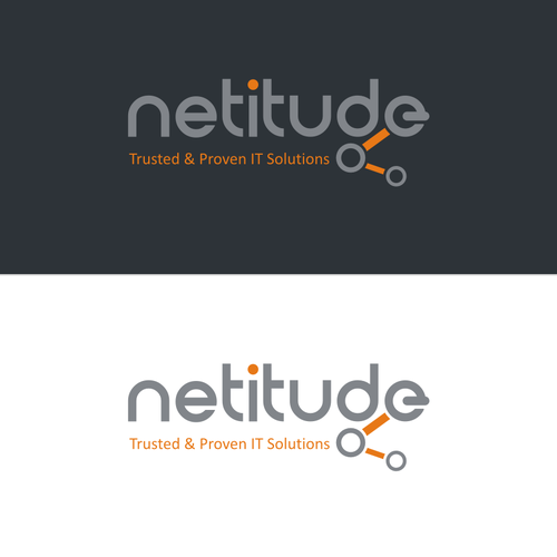 Create a professional logo for Netitude - a proven and trusted IT services Company