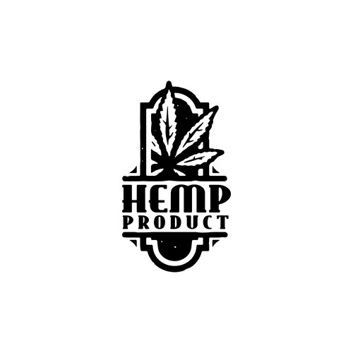 Hemp product logo concept
