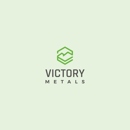 Modern logo for vanadium mining company: Victory Metals