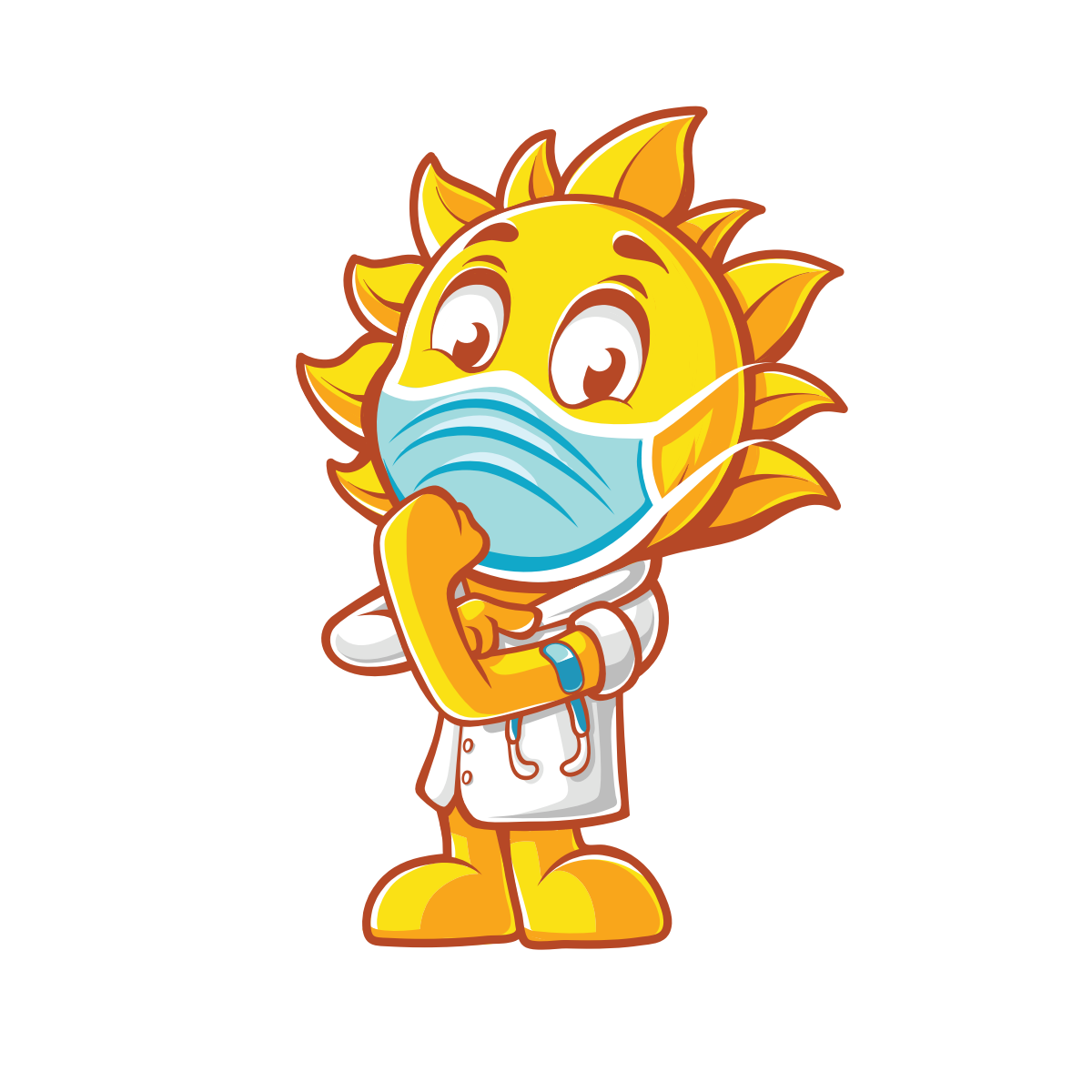 New pose for mascot (Dr. Sunny)