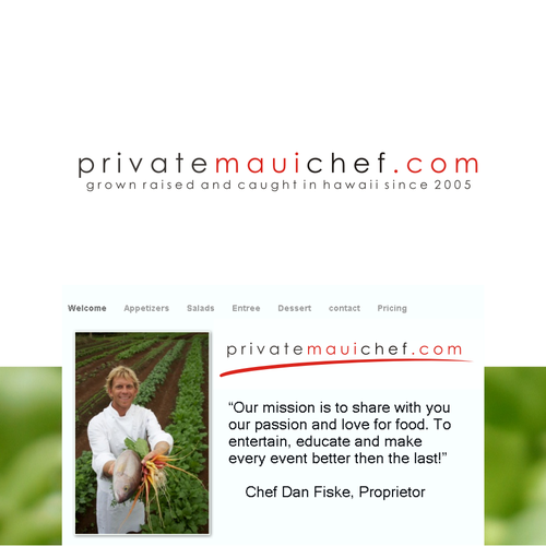 New logo wanted for PrivateMauiChef.com
