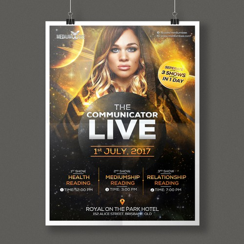 Promo poster design for MediumBee Events
