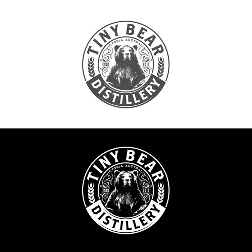 A unique design of Tiny Bear Distillery..