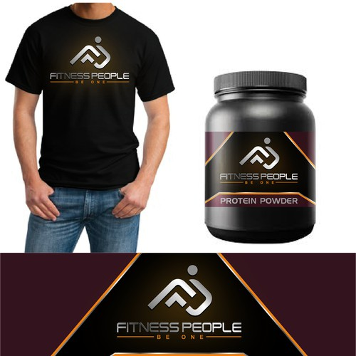 Fitness people logo